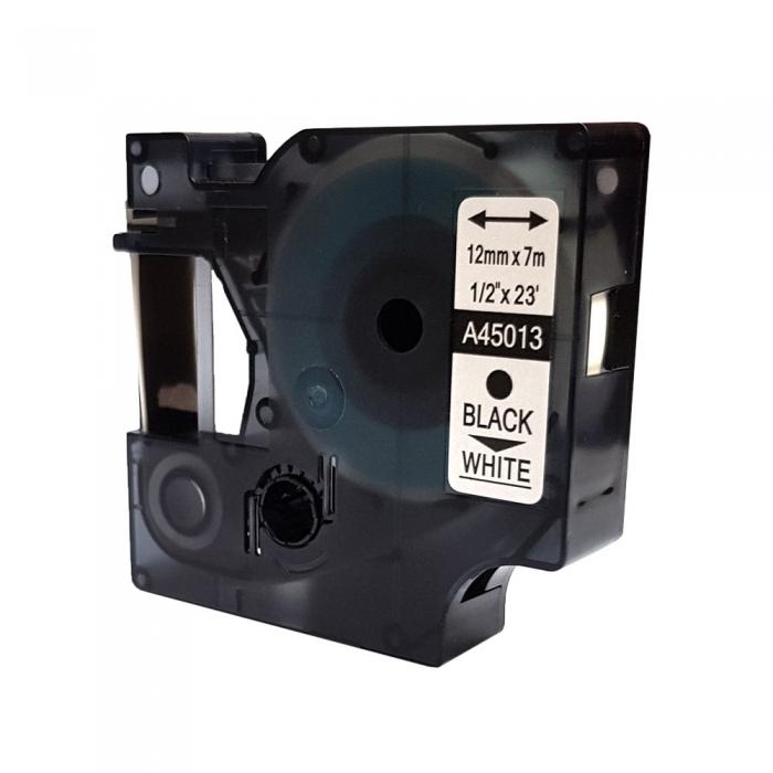Compatible labels 12mm x 7m, black on white, 45013 S0720530-C-big