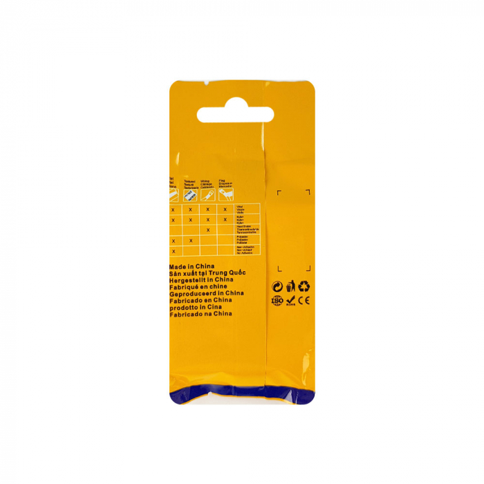 Etichete compatibile tub termocontractibil, DYMO ID1, 9mm x 1.5m, negru/galben, 18054-big