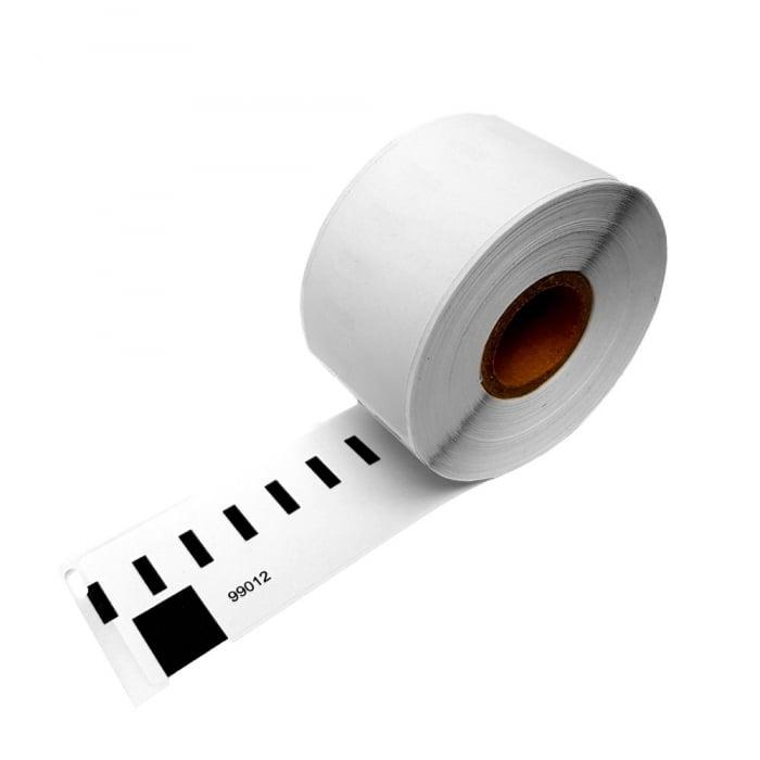 Etichete termice compatibile adrese mari, permanente, 89mmx36mm, hartie alba, 260 etichete/rola, 99012 S0722400-big