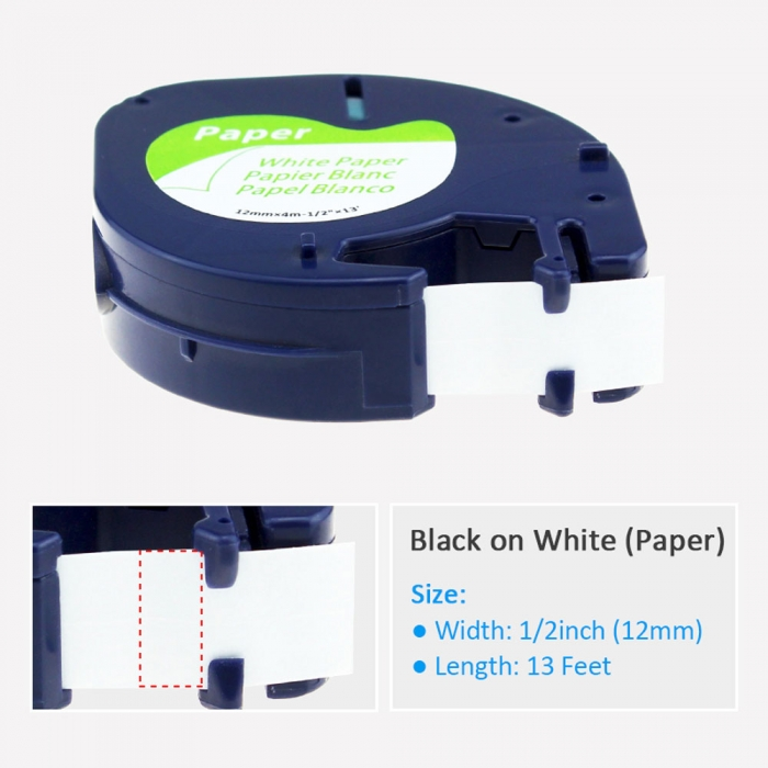 Compatible Labelling Tape paper, white, 12mmx4m, A 91200 S0721510-C-big