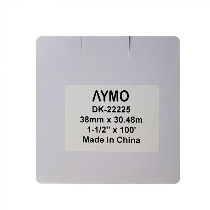 Etichete termice autocolante compatibile, Brother DK-22225, hartie alba, modul continuu, 38mmx30.48m, suport din plastic inclus DK22225, 4 role/set-big