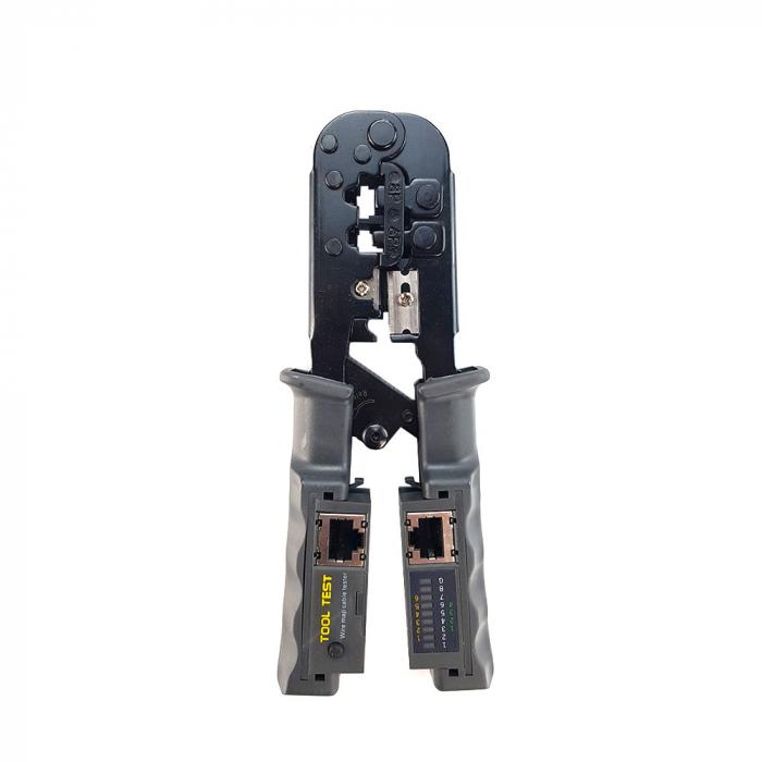 Cleste modular 4 in 1 Haicable decablare, taiere, sertizare si testare cabluri, RJ45 RJ12 RJ11 HT-N568CR-big