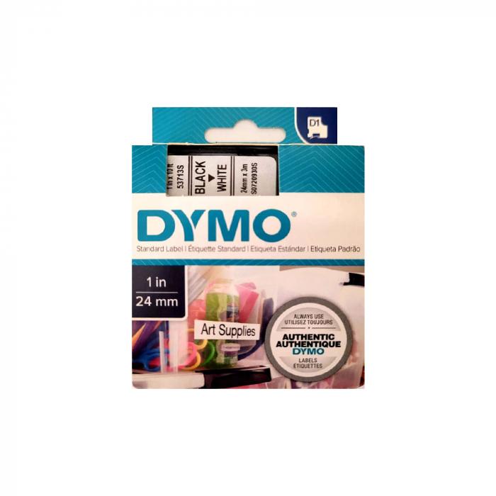 Aparat de etichetat (imprimanta etichete) Dymo LabelManager 500TS, QWERTY, (touchscreen) si 1 banda industriala poliester D1, 12mm x 5.5m, negru/alb, S0946410, 16959-big