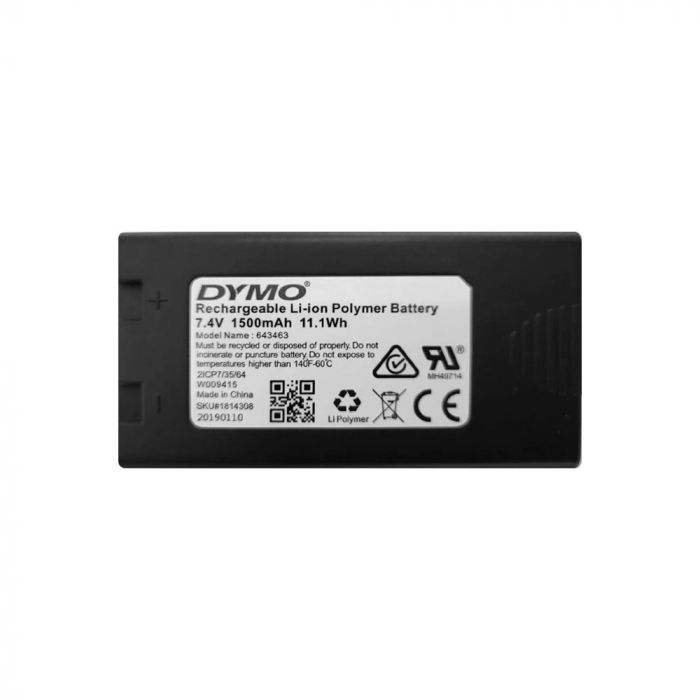 Aparat de etichetat (imprimanta etichete) Dymo LabelManager 500TS, QWERTY, (touchscreen) si 1 caseta etichete profesionale D1, 12mm x 7m, negru/alb, S0946410, 45013-big