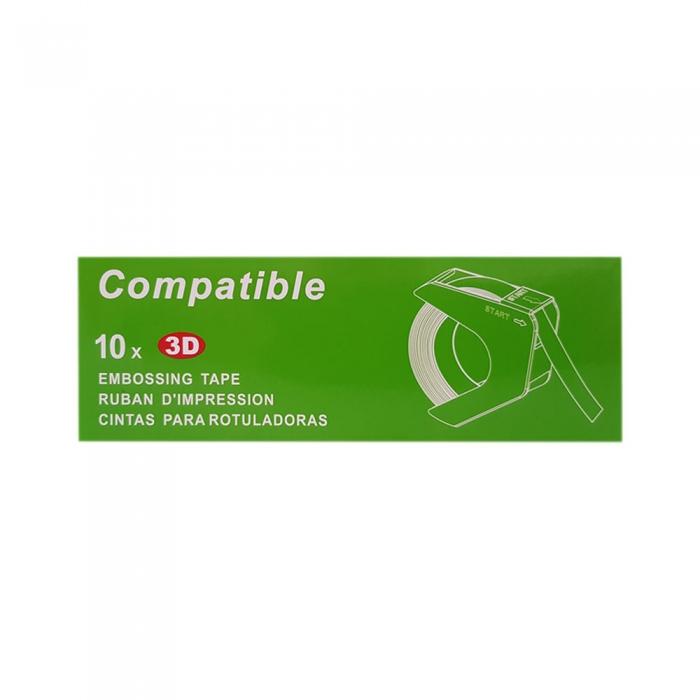 Etichete plastic embosabile compatibile Omega, 9mmx3m, roz, A520105 S0898150-C-big