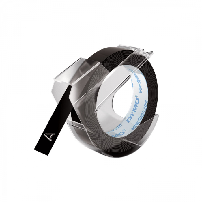 Etichete plastic embosabile DYMO Omega, 9mmx3m, negru, S0898130 S0847720 S0847730-big