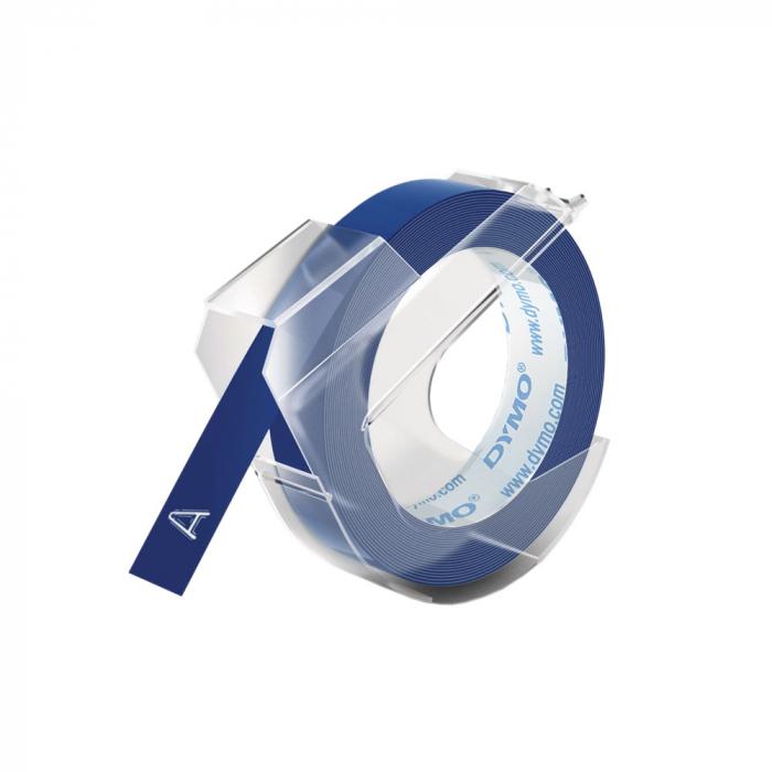 Etichete plastic embosabile DYMO Omega, 9mmx3m, albastru, S0898140 S0847710 S0847740-big