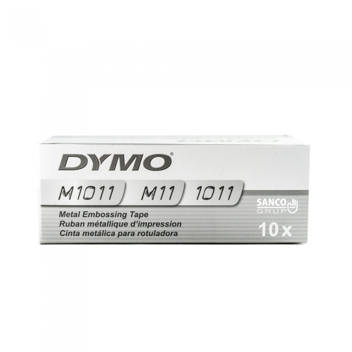 Industrial embossing labels DYMO, 12mmx6,4m, stainless steel, 32500 SD301241-big