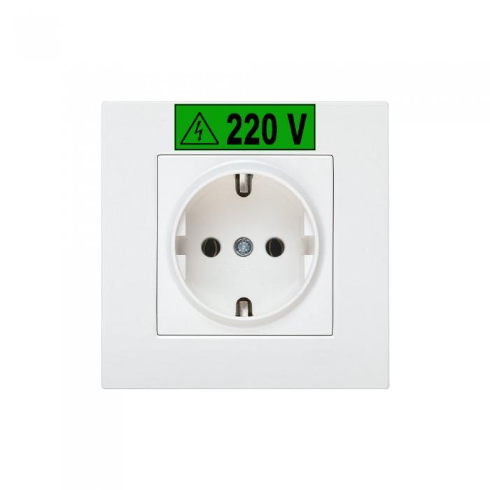 Etichete industriale autocolante, DYMO ID1 vinil, 12mm x 5.5m, alb/verde, 1805414-big