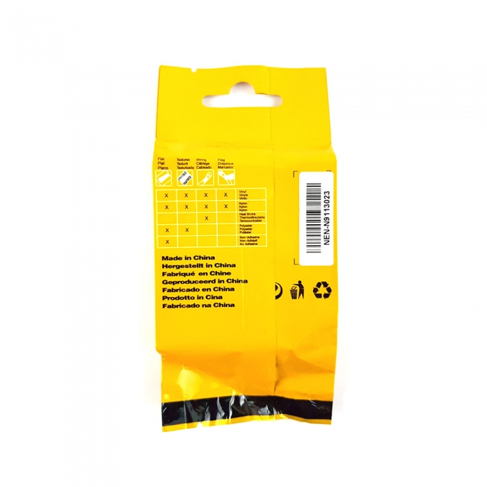 Etichete industriale autocolante compatibile, DYMO ID1, poliester permanent, 9mm x 5.5m, negru/alb, 18482 18482-C-big
