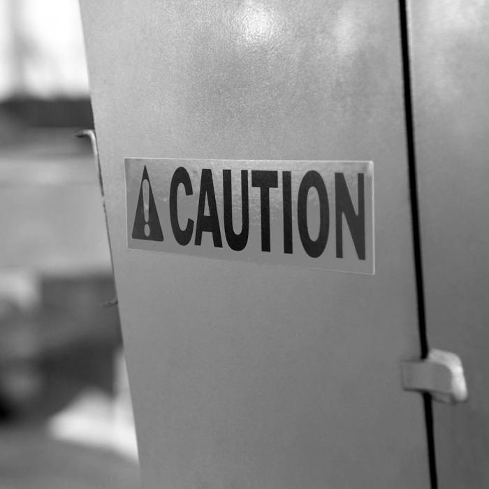 Etichete industriale autocolante, DYMO ID1, poliester permanent, 19mm x 5.5m, negru/argintiu metalizat, 18487 S0718200-big