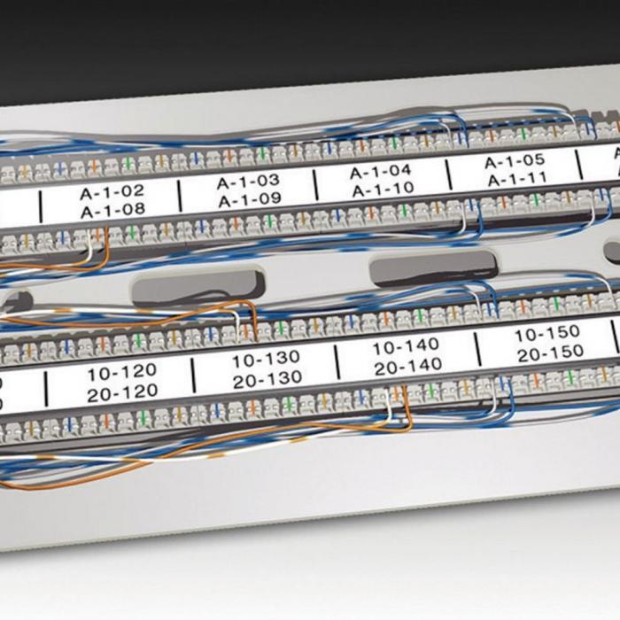 Etichete industriale autocolante, DYMO ID1, poliester permanent, 19mm x 5.5m, negru/alb, 18484 S0718220-big