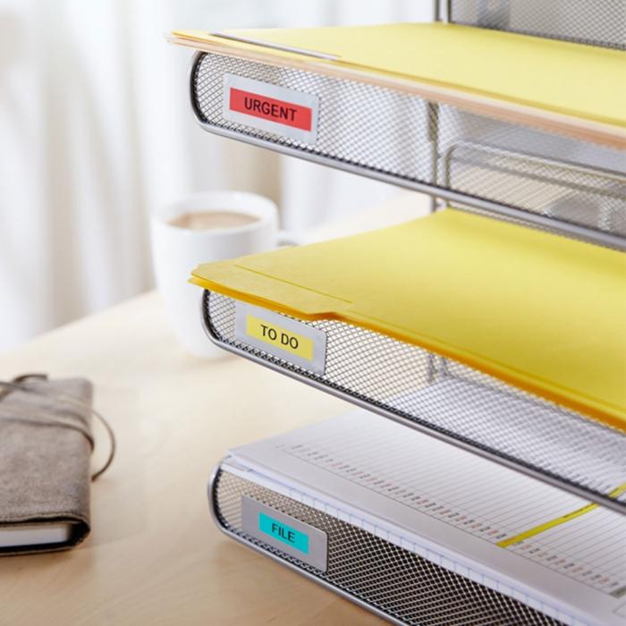 Aparat de etichetat (imprimanta etichete) DYMO LabelManager 160P, QWERTY si 3 benzi originale Dymo, rosu, galben si albastru-big