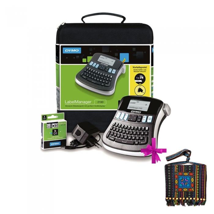 Aparat de etichetat (imprimanta etichete) DYMO LabelManager 210D, Kit, S0964070-big