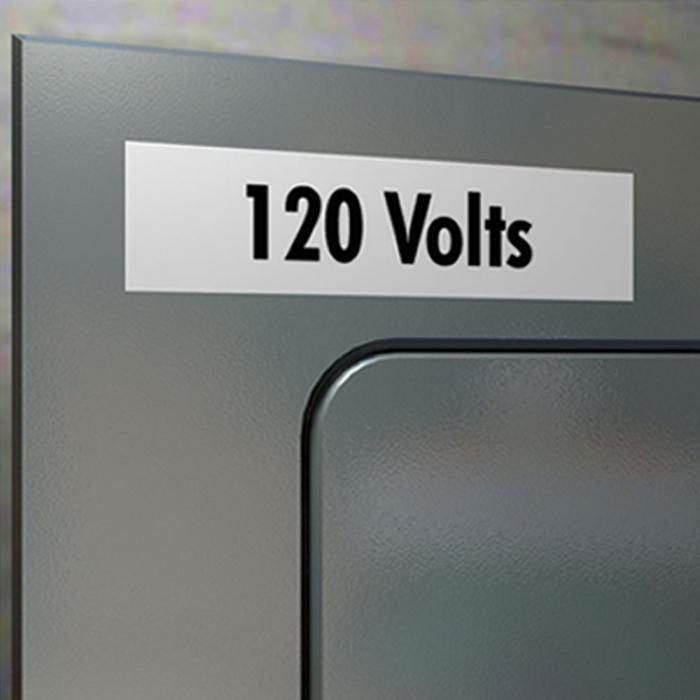 Aparat etichetat (imprimanta etichete) DYMO LabelManager 210D, AZERTY si 1 banda industriala poliester D1, 12mm x 5.5m, negru/alb, S0784460, 16959-big