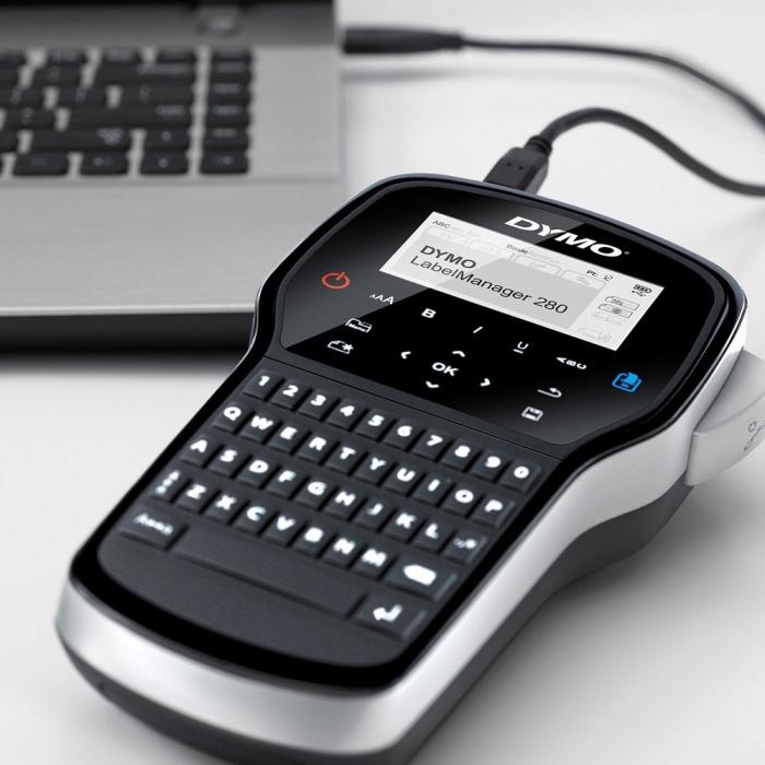 Aparat de etichetat (imprimanta etichete) DYMO LabelManager 280 P, QWERTY, conectare la PC S0968920, 968920-big