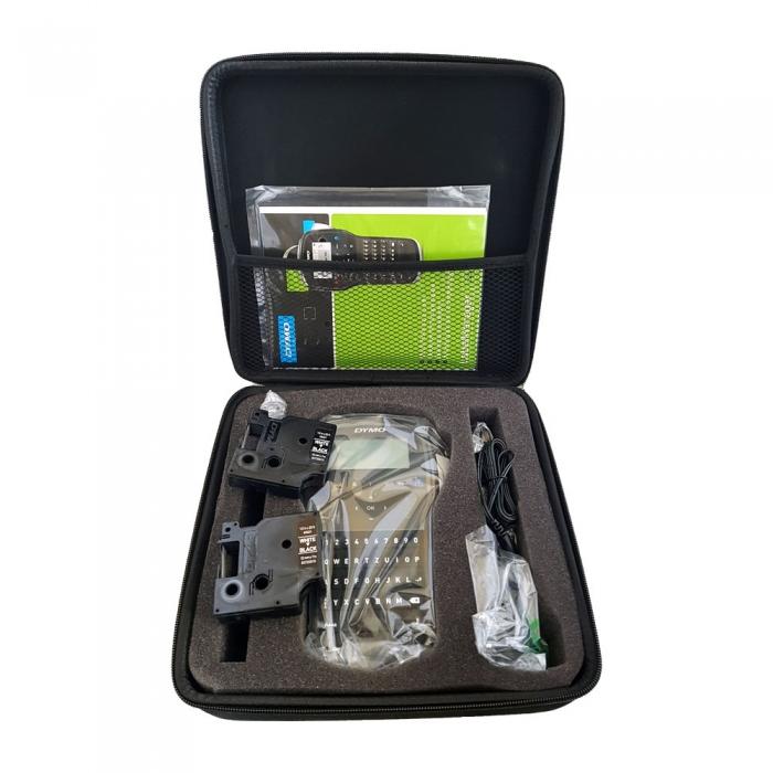 DYMO LabelManager 280P Label Maker, QWERTZ, kit case and 1 professional label box, 12 mmx7m, black/white, S0968990, 45013-big