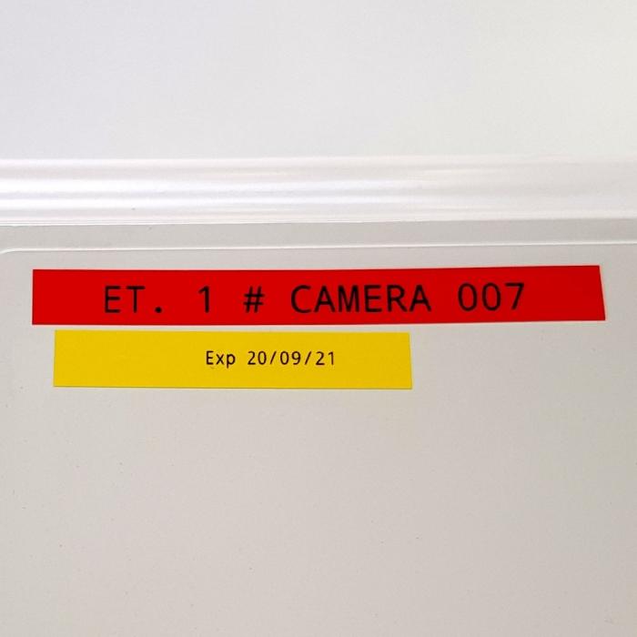 Etichete autocolante, DYMO LabelManager D1, compatibile, 9mm x 7m, negru/galben, 40918 S0720730-C S0720790-C-big