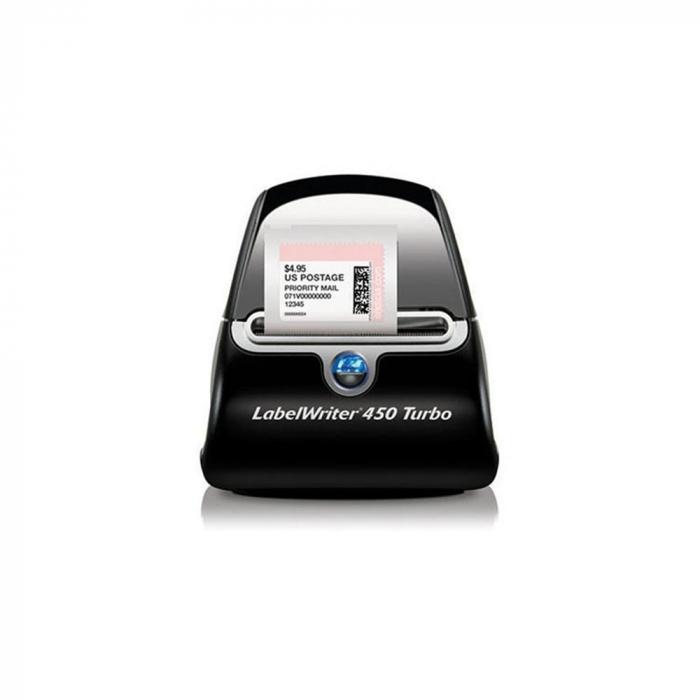 Imprimanta termica etichete DYMO LabelWriter 450 Turbo si 6 x Etichete termice, DYMO LabelWriter, ecusoane/carduri medii, neadezive-big