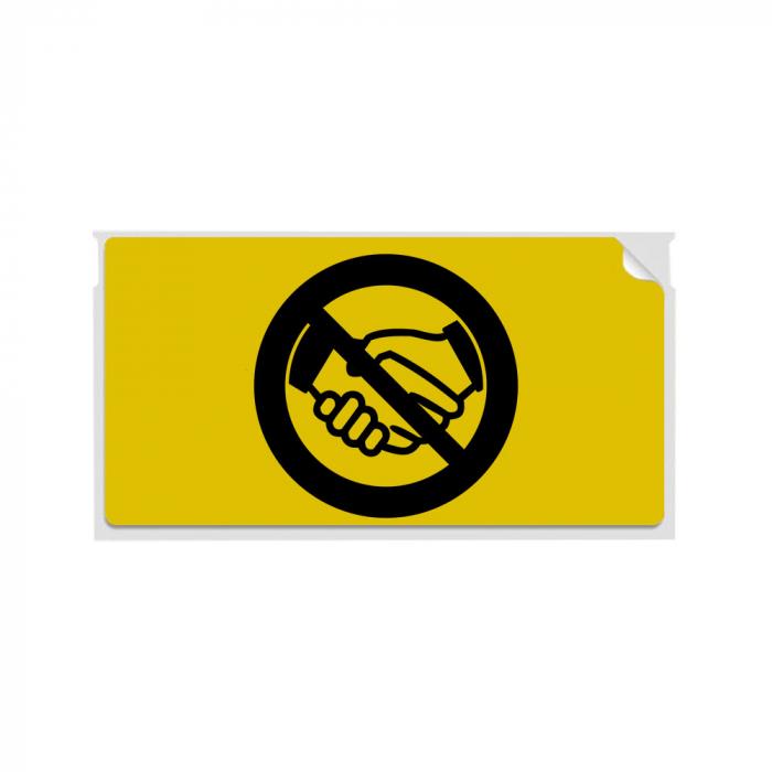 Set Etichete termice, DYMO LabelWriter, 54mmx101mm, hartie galbena, mesaje avertizare, adrese voiaj, permanente, 1 rola/cutie, 220 etichete/rola, 2133400, 99014-big