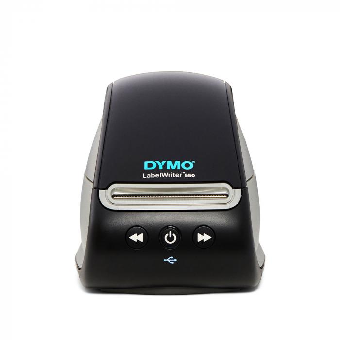 Imprimanta termica etichete DYMO LabelWriter 550, senzor recunoastere eticheta, aparat de etichetat, priza EU 2112722-big