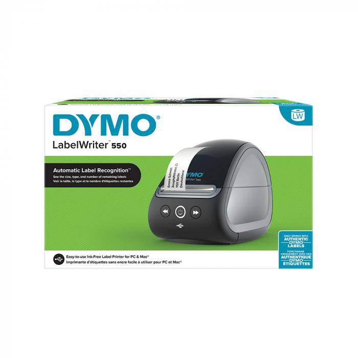 Imprimanta termica etichete DYMO LabelWriter 550, senzor recunoastere eticheta, aparat de etichetat, priza UK 2112727-big