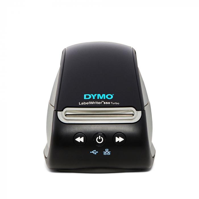 Imprimanta termica etichete DYMO LabelWriter 550 Turbo, senzor recunoastere eticheta, aparat de etichetat, viteza printare 71 etich/min, priza EU 2112723-big