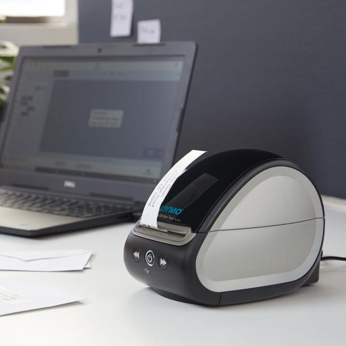 Imprimanta termica etichete DYMO LabelWriter 550 Turbo, senzor recunoastere eticheta, aparat de etichetat, viteza printare 71 etich/min, priza UK 2112727-big