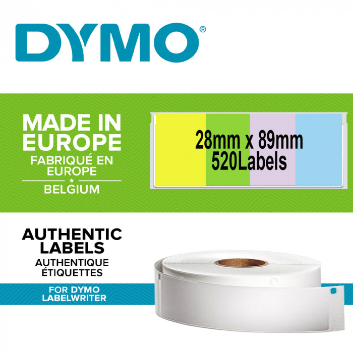 DYMO LabelWriter, Address Labels, permanent, 28mmx89mm, paper color, 4 rolls/box, 99011 99010 S0722380-big