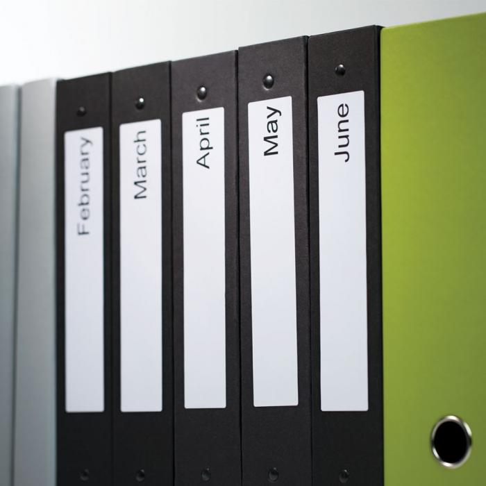 Etichete termice compatibile adrese, permanente, 190mm x 38mm, hartie alba, 110 etichete/rola, 99018 S0722470-big