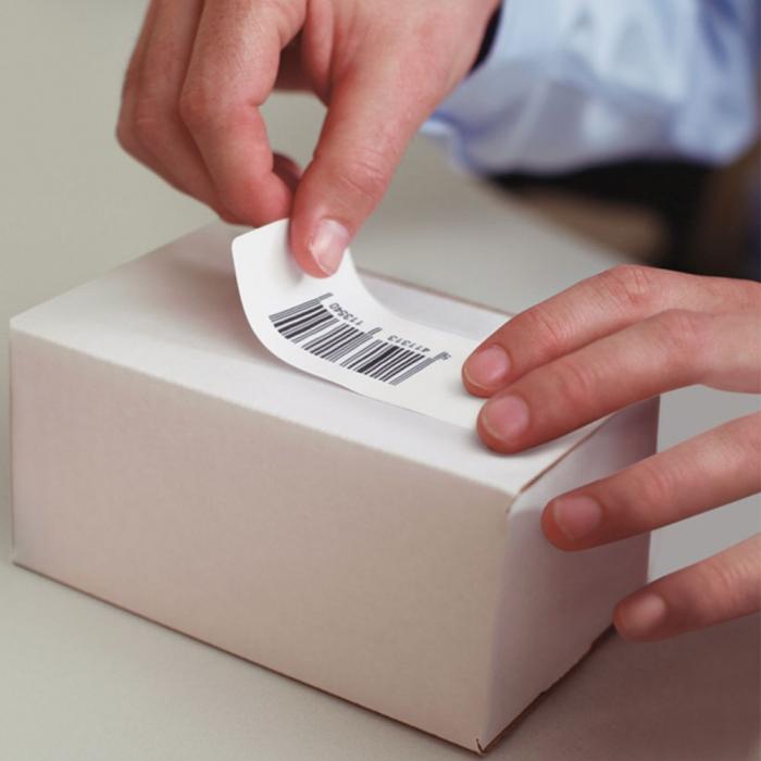 Etichete termice compatibile adrese, permanente, 28mm x 89mm, hartie alba, 130 etichete/rola, 99010 S0722370-big