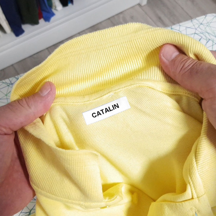 Set DYMO Letratag Iron-On 10 plus 1, etichete pentru haine, 12mm x 4m, alb 11 bucati/set DY18769P 18769-big
