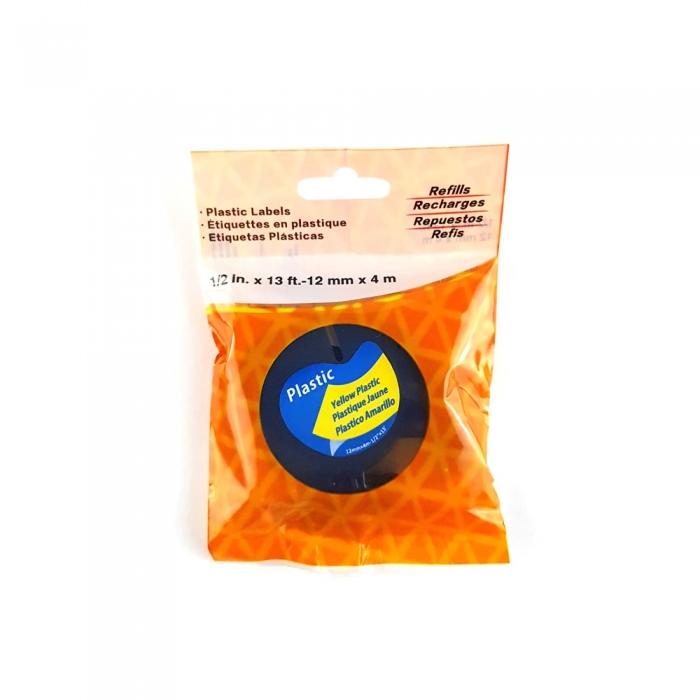Etichete plastic autocolante, compatibile, DYMO LetraTag, 12mmx4m, galben, 91202 S0721670-C-big