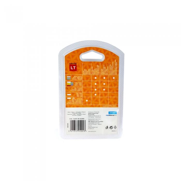 Etichete plastic autocolante DYMO LetraTag, 12mmx4m, albe, S0721610 S0721560 S0721660-big