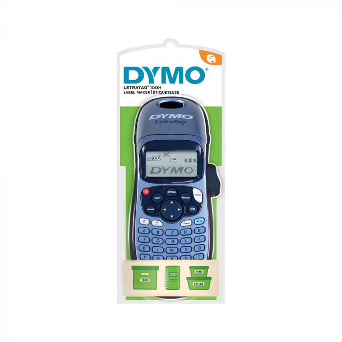 Dymo LetraTag LT-100H Plus Blue, ABC keyboard, included 1 tape Letratag labels white paper S0883990-big