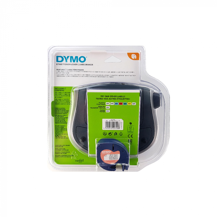 Etichetator Dymo LetraTag LT-100T, compact si portabil, tastatura AZERTY, editare eticheta pe 2 randuri S0758380-big