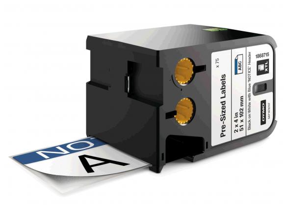 DYMO XTL etichete autoadezive semnalizare, header NOTICE, 51mm x 102mm, 1868715-big