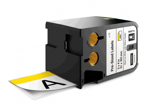 DYMO XTL etichete autoadezive semnalizare, header galben, 51mm x 102mm, 1868714-big