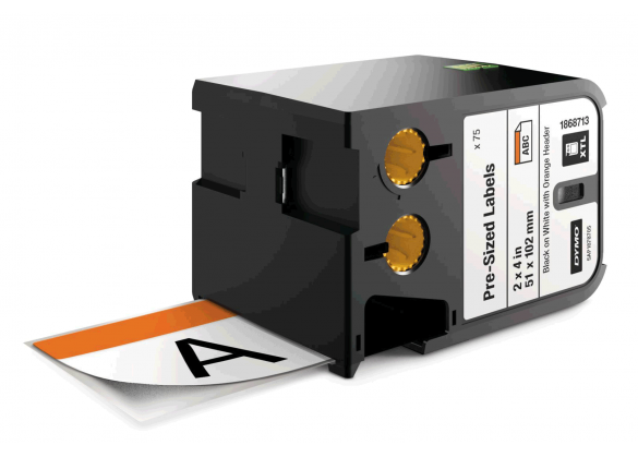 DYMO XTL etichete autoadezive semnalizare, header portocaliu, 51mm x 102mm, 1868713-big