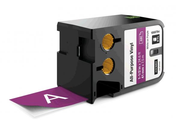 Etichete industriale autoadezive, DYMO XTL, vinil, 41mm x 7m, alb/violet, 1868794-big