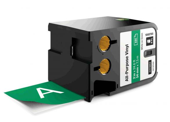 Etichete industriale autoadezive, DYMO XTL, vinil, 54mm x 7m, alb/verde, 1868785-big