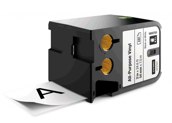 Etichete industriale autoadezive, DYMO XTL, vinil, 54mm x 7m, negru/alb, 1868755-big