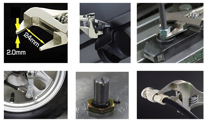 Cheie reglabila subtire si inteligenta ENGINEER TWM-08, 110 mm, de buzunar, fabricat in Japonia-big