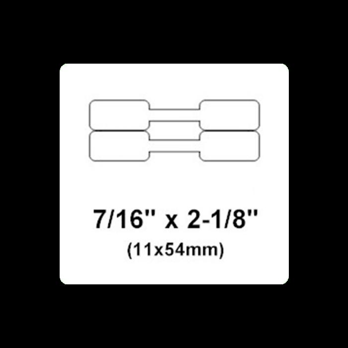 Etichete bijuterii compatibile Dymo, 11mm x 54mm, polipropilena, albe, punte neadeziva, 1500 etich/rola A11351-big