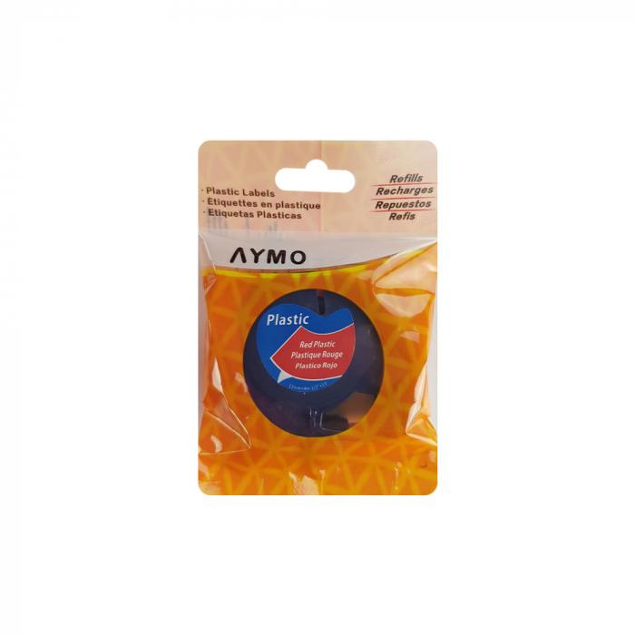 Etichete compatibile DYMO LetraTag 12mmx4m, plastic, rosu, 91203 DY91203-big