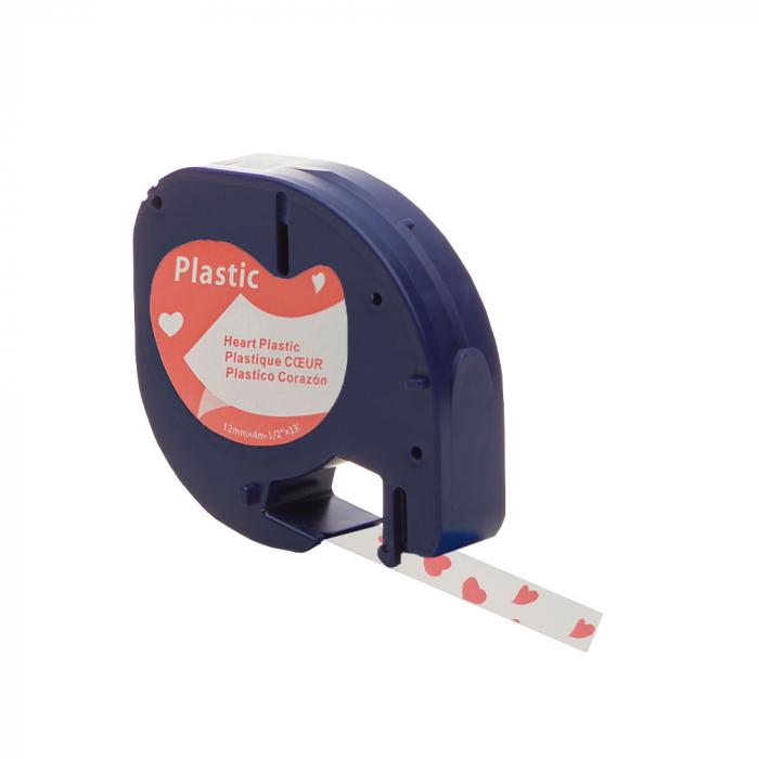 Etichete plastic autocolante compatibile 12mmx4m, inimi, S0721610-C3-big