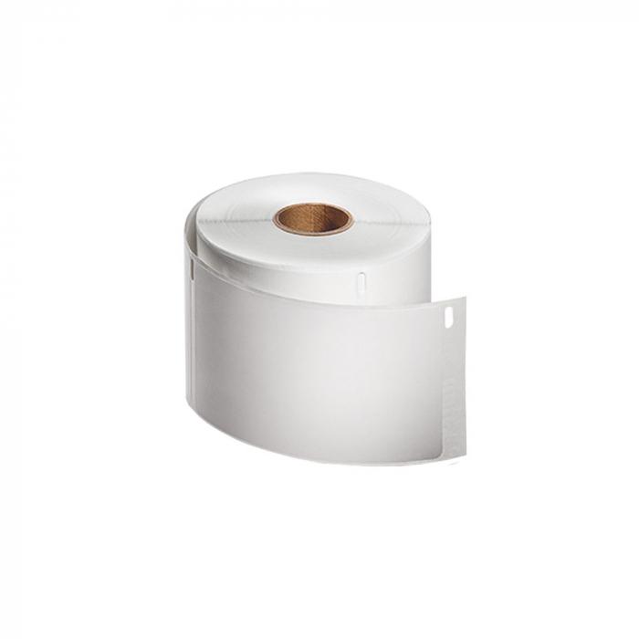 Etichete termice compatibile adrese voiaj, permanente, 54mmx101mm, hartie alba, 220 etichete/rola, 99014 S0722430-big