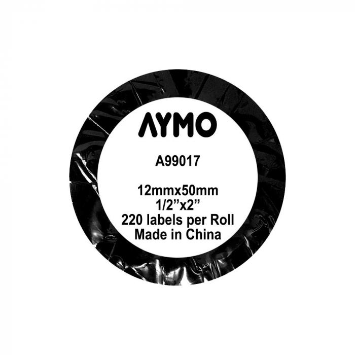 Etichete termice compatibile dosare suspendate, permanente, 12mmx50mm, hartie alba, 220 etichete/rola, 99017 S0722460-big