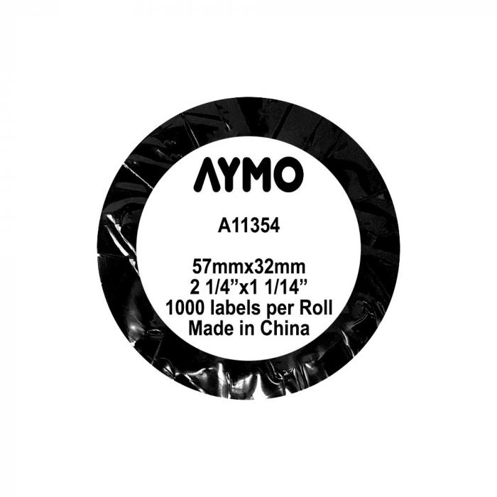 Etichete termice compatibile permanente, 57mmx32mm, hartie alba, 1 rola, 1000 etichete/rola, 11354 S0722540-big