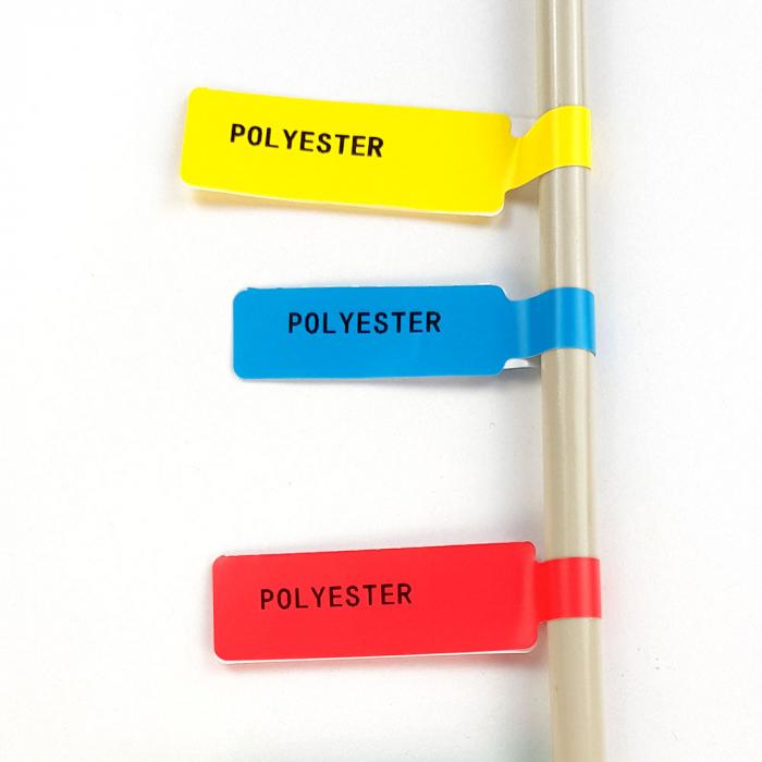 Etichete stegulet F pentru cabluri 25 x 30mm + 40mm rosu, polipropilena, pentru imprimanta M110/M200, 100 buc/rola-big